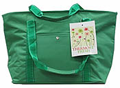 green insulated shopping bag