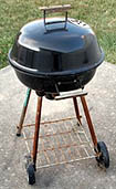 clean barbecue grill